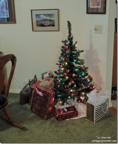 Presents Christmas tree Bill's Kanab Utah