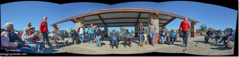 Most of the crowd Blogger-Fest 2017 LTVA La Posa S BLM Quartzsite Arizona