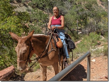 Gaelyn on Dagwood Roaring Springs Canyon Grand Canyon National Park Arizona