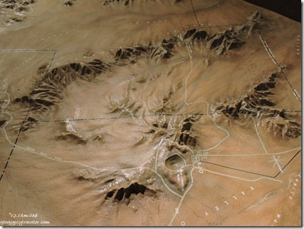 Relief map surrounding AJo Arizona