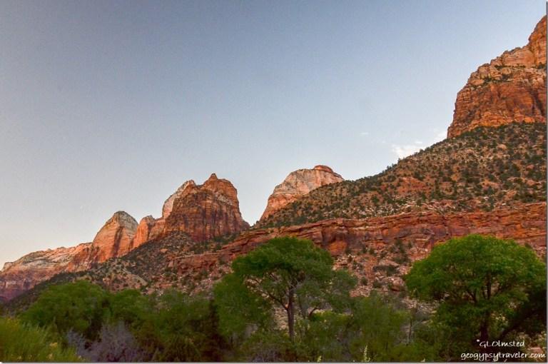 Last light Zion National Park Utah