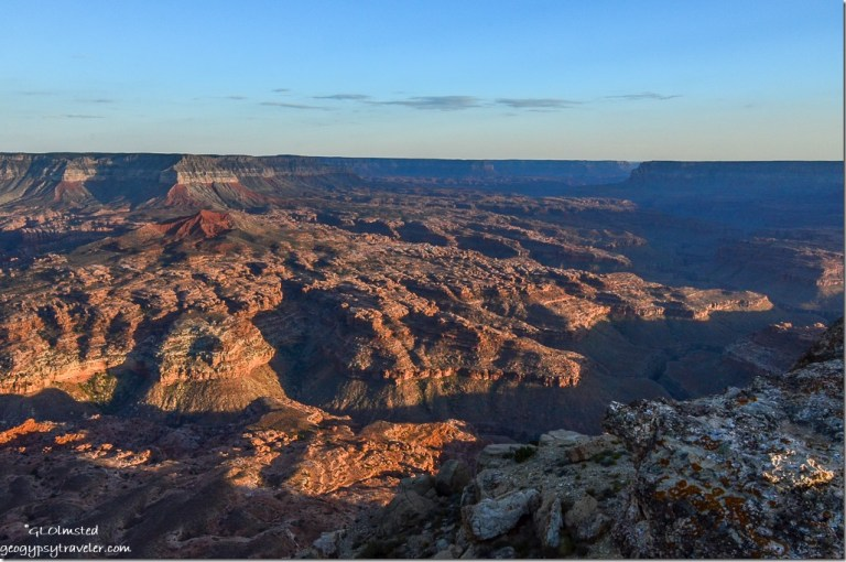 Esplande, Sowats drainage, Race Track Knoll, Fishtail Pt & Grand Canyon from Jumpup Point Kaibab National Forest Arizona