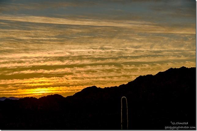 Sunset Sonoyta Mountains Desert View trail Organ Pipe Cactus National Monument Arizona