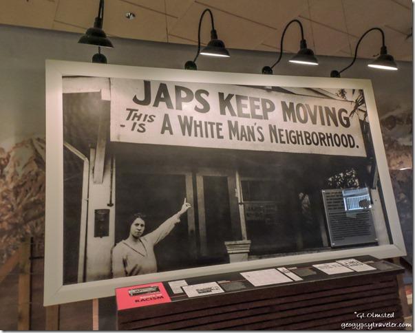 Visitor Center display Manzanar National Historic Site Independence California