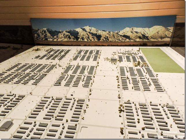 town layout display in Visitor Center Manzanar National Historic Site Independence California