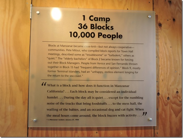 Interpretive sign Manzanar National Historic Site Independence California