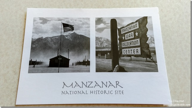 Manzanar postcard sent Ides of Trump Independence California