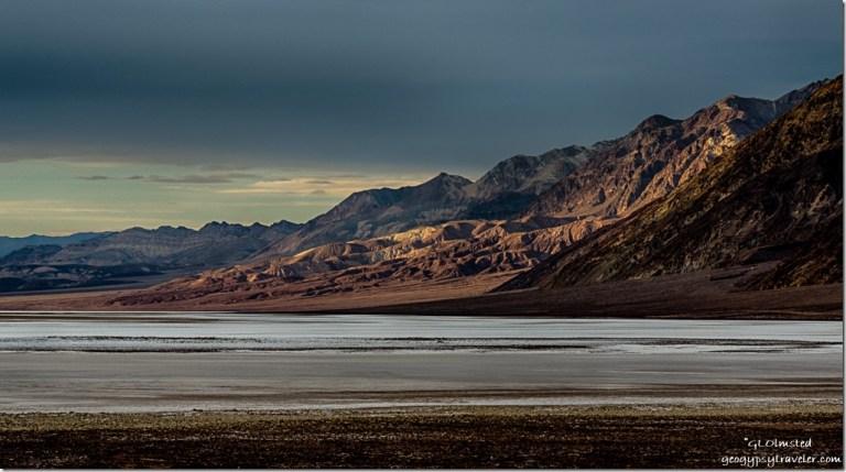Last light Amargosa Range Badwater Basin Death Valley National Park California