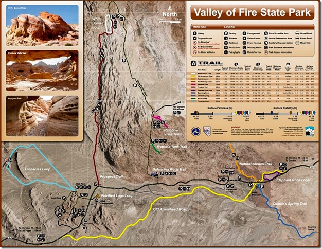 Valley of Fire State Park trail map