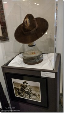 Fatty Arbuckle's hat Museum of Westren Film History Lone Pine California