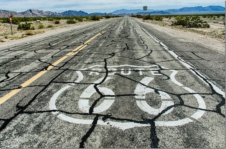 Route 66 on road Amboy California