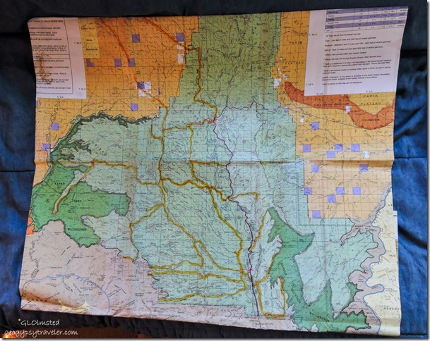 Kaibab National Forest map roads traveled