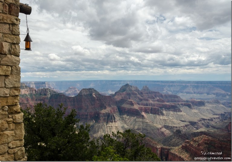 Storm over canyon from Lodge North Rim Grand Canyon National Park Arizona