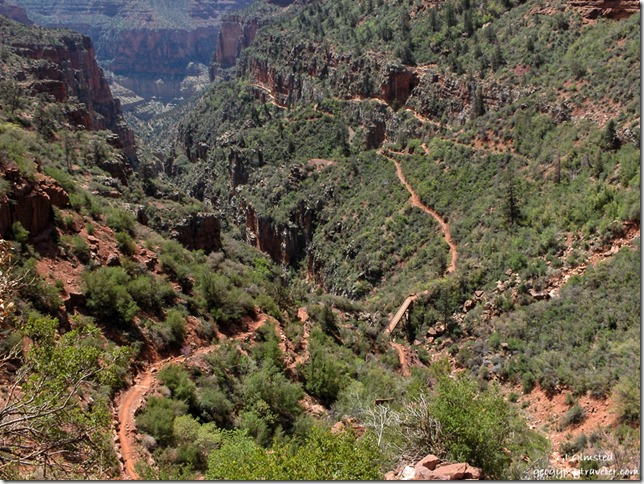 North Kaibab trail Grand Canyon National Park Arizona