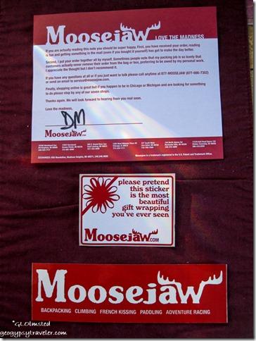 Moosejaw stickers Yarnell Arizona