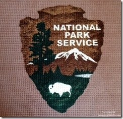 National Park Service logo rug office North Rim Grand Canyon National Park Arizona