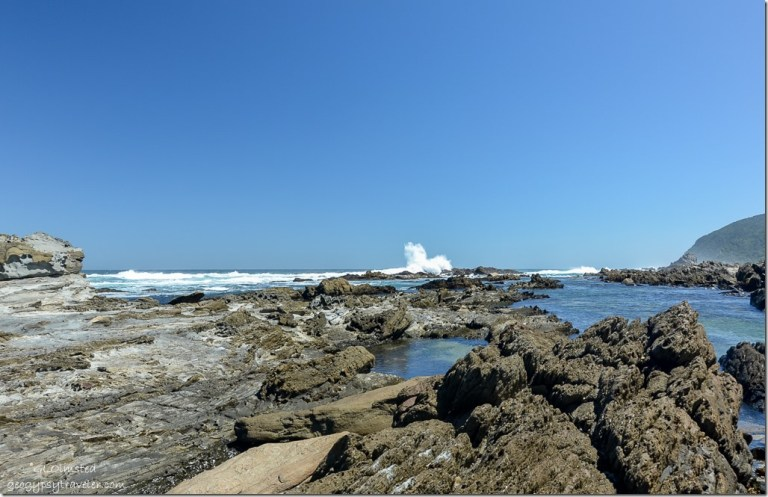 Rocky coast Tsitsikamma National Park South Africa