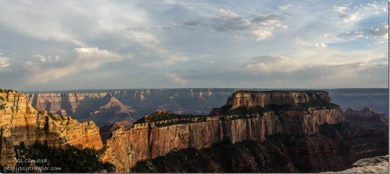 light & shadow Wotans Throne Cape Royal North Rim Grand Canyon National Park Arizona