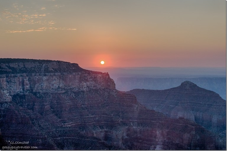 solstice sunrise Cape Royal North Rim Grand Canyon National Park Arizona