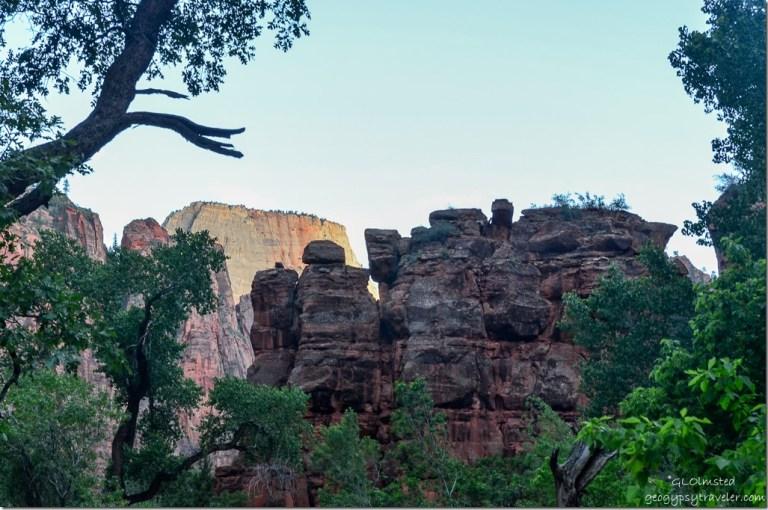 Rock walls Zion National Park Utah