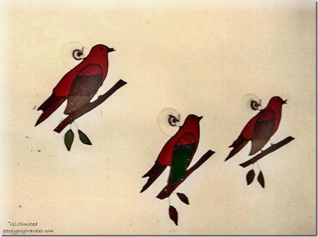 Scarlet Tanager suncatchers Hanover Park Illinois