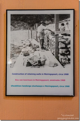Road interpretive sign by Great Waterfall along N12 Meiringspoort South Africa