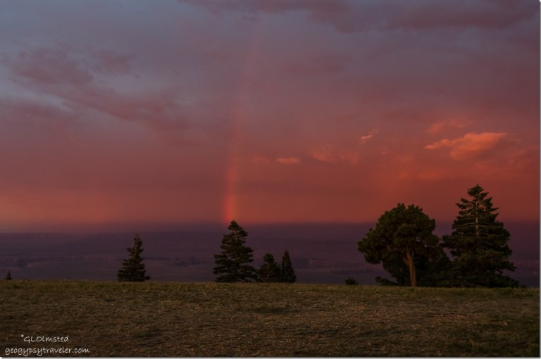 rainbow red reverse sunset Marble View Kaibab National Forest Arizona