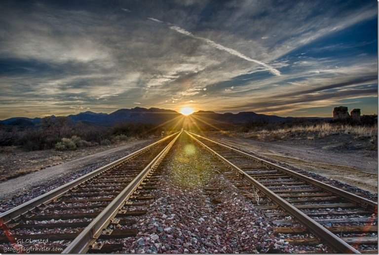 Sunset RR tracks Kirkland Arizona
