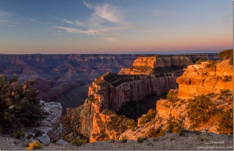 DSC_0559 first light Wotans Throne Cape Royal North Rim Grand Canyon National Park Arizona
