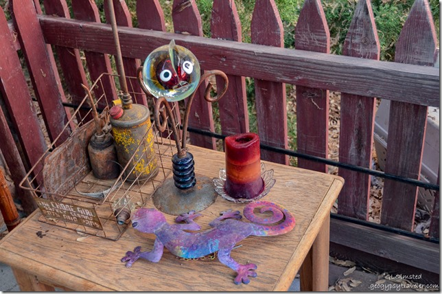 Yard art at Berta's Yarnell Arizona