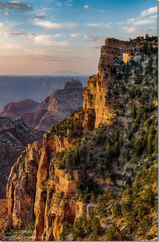 morning light Angels Window North Rim Grand Canyon National Park Arizona