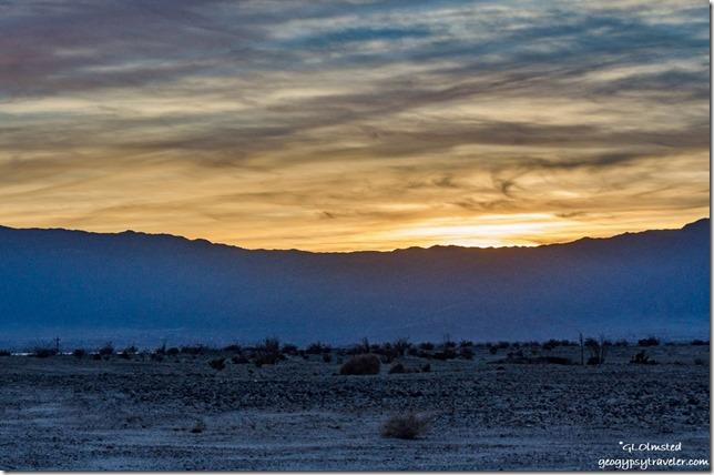 Sunset over Vallecito Mountains Anza-Borrego Desert State Park California