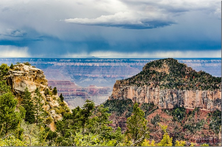 Transept trail Oza Butte storm North Rim Grand Canyon National Park Arizona