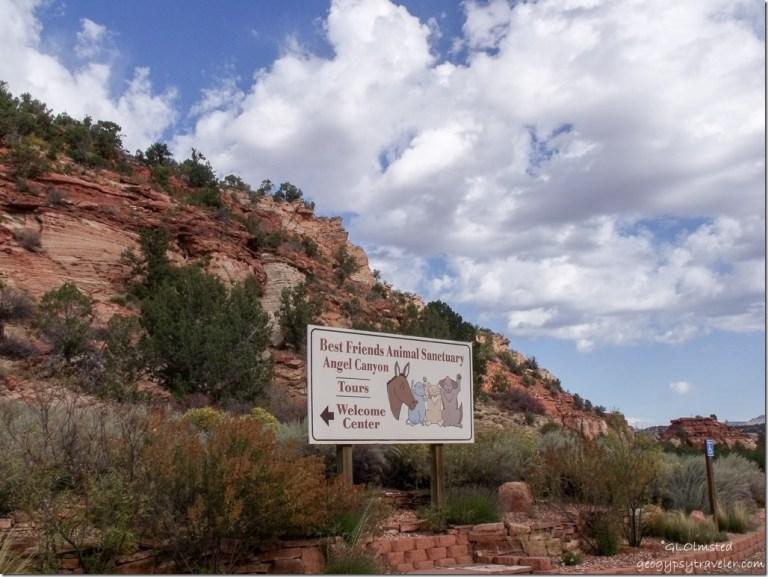 Sign at Best Friends Animal Sanctuary Kanab Utah