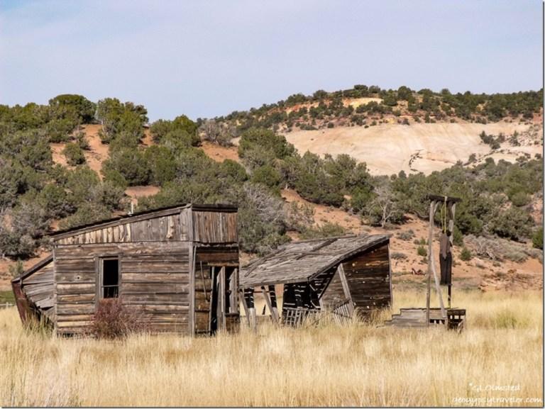 Effigy hanging at old movie set Johnson Canyon Road Utah