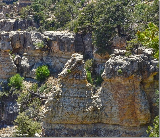 Dragon rocks in canyon Walhalla Plateau North Rim Grand Canyon National Park Arizona