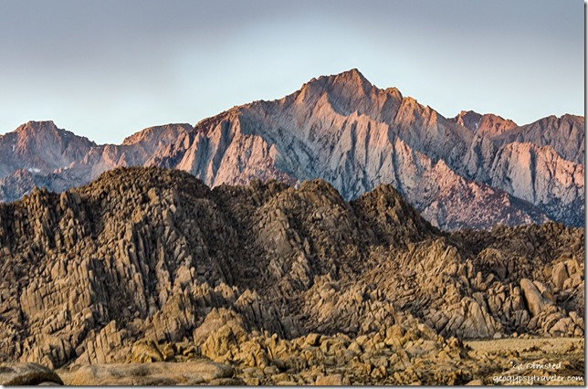 morning light Lone Peak Alabama Hills Lone Pine California