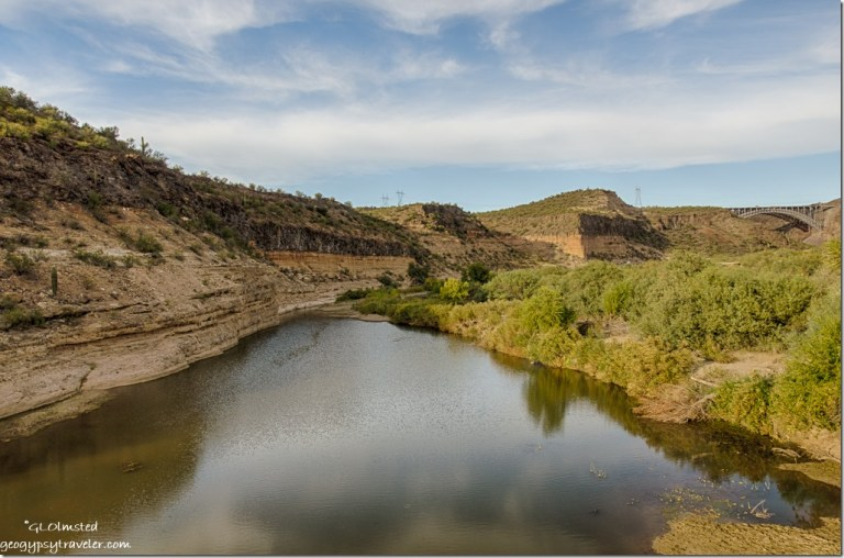 Burro Creek upstream from low bridge Arizona