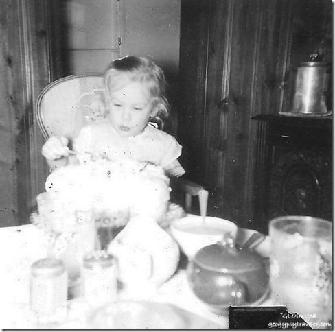 Gail's 2nd birthday March 26 1956 Spring Road Hinsdale Illinois