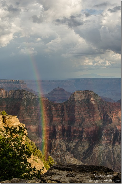 rainbow canyon from Lodge North Rim Grand Canyon National Park Arizona