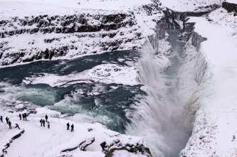 Gullfoss Waterfall in Winter