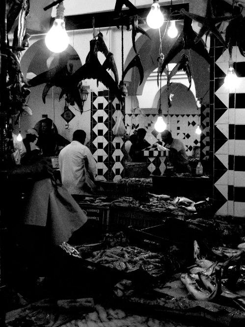 Mercato del pesce. Tunisi 2008