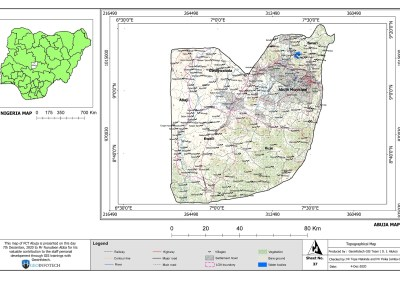 Abuja Topographical Map – HD GIS Mapping