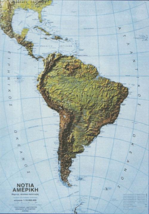 Χάρτης Νότιας Αμερικής