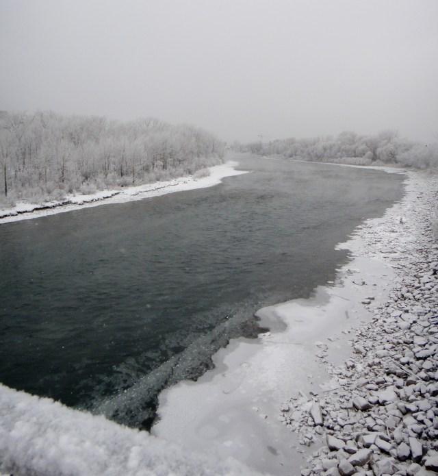 Bow River near Calgary city centre