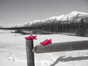 Ruby sandals in Canmore, AB