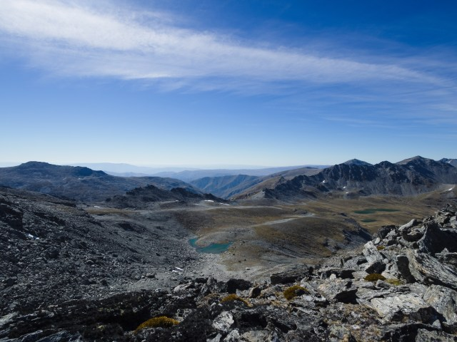 Turquoise lakes, rolling hills and fabulous mountain ridge walks are all visible from South Wye Saddle.
