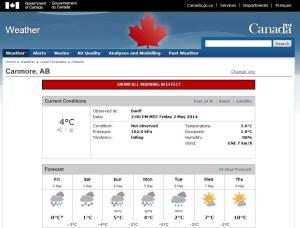 Snowfall-warning