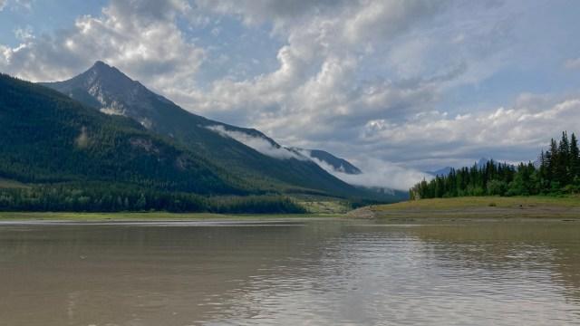 turnaround point for kayaking Barrier Lake