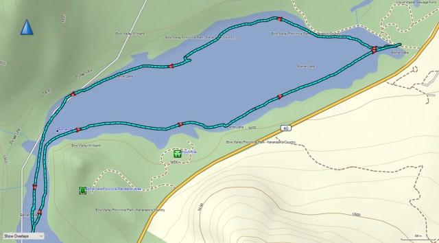 kayaking Barrier Lake GPS track